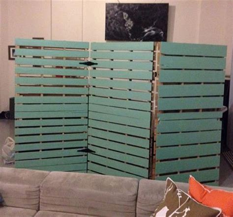 separator wall diy pallet room divider pallets designs