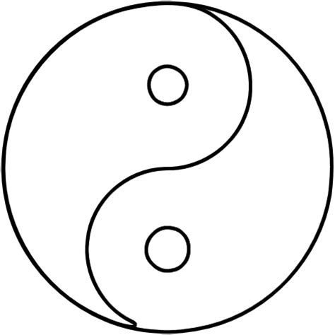 yin yang coloring pages ninja symbols quotes