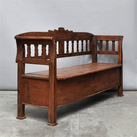 antique storage benches antique storage bench with original paint circa 1920 for