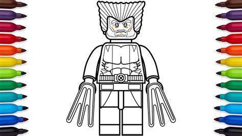 lego wolverine coloring pages how to draw lego wolverine marvel superheroes coloring