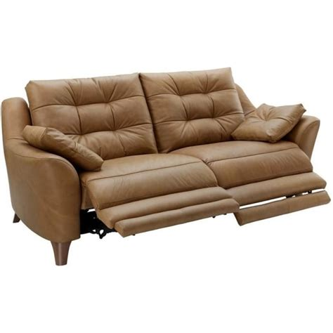 g plan recliner sofas g plan pip 3 seater electric recliner sofa in leather at