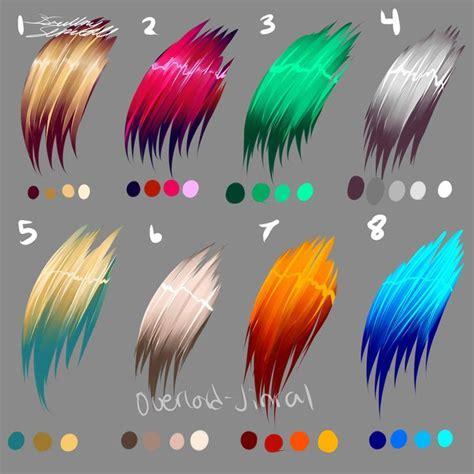 anime hair colors best 25 anime hair color ideas on palette