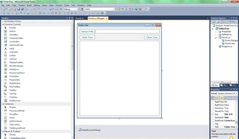 design form studio c how to center form in visual studio design view