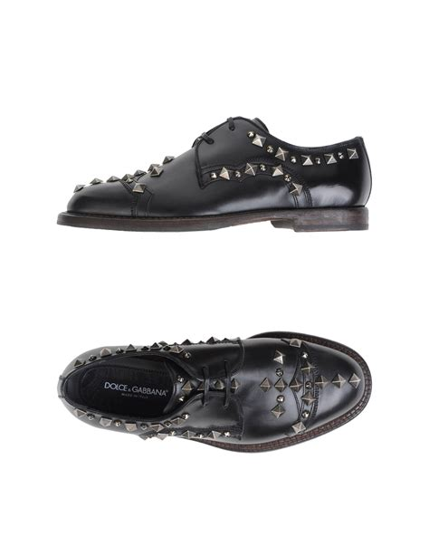 Lace Shoes Dg Inspired lyst dolce gabbana lace up shoes in black for