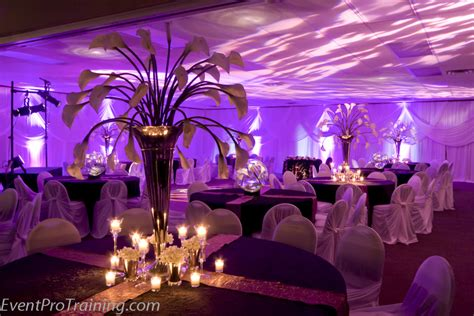 black and plum purple wedding and reception