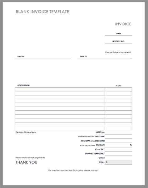 55 Free Invoice Templates Smartsheet Dummy Invoice Template