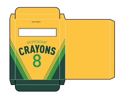 crayon box template free crayon box template boxes 1 12 cajas 1 12 printables