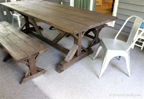 outdoor farm table with benches anthro inspired outdoor farmhouse table benches erin spain