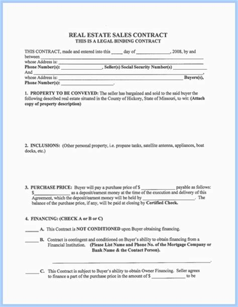 real estate contract template personal property sales agreement related keywords