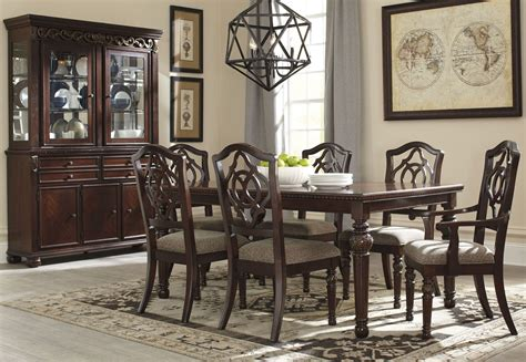 d700 81 ashley furniture leximore dining room hutch charlotte appliance inc leahlyn brown extendable rectangular dining room set from