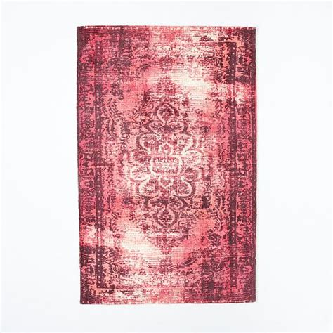 Distressed Arabesque Wool Rug Shockwave - distressed arabesque wool rug shockwave west elm