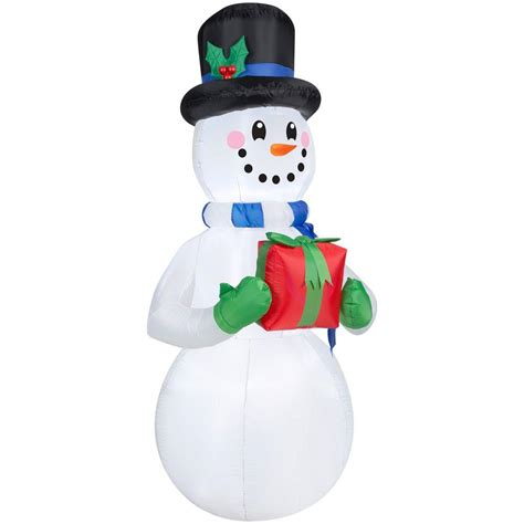 home depot inflatable christmas decorations home accents holiday 6 5 ft h inflatable snowman with