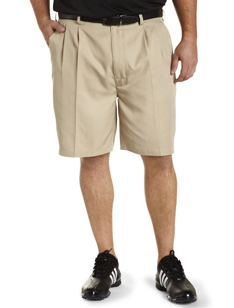 comfort waist golf shorts reebok golf play dry continuous comfort pleated shorts ebay