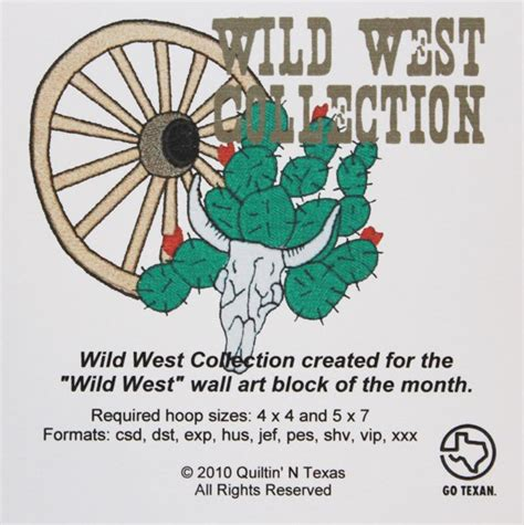 design west embroidery cd wild west collection