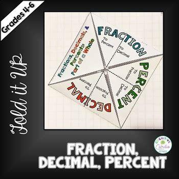 Fraction Decimal Percent Fold It Up Tpt