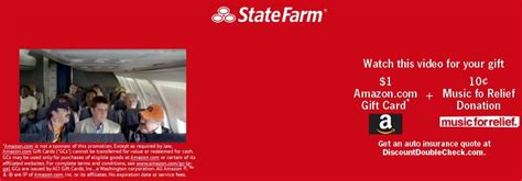 State Farm Gift Card - free 1 amazon gift card from state farm