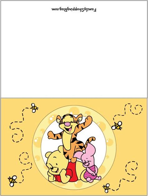 Winnie The Pooh Birthday Card Template by 17 Best Images About Winnie The Pooh Baby Shower On