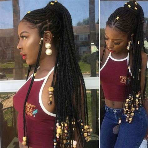 weave hairstyles for adults 25 fulani braids to copy this summer page 2 of 2