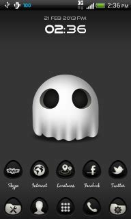 clock themes for android ghost clock for android theme htc theme mobile toones