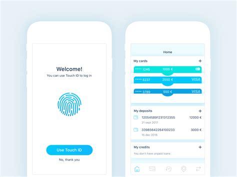 finance app login home screen up