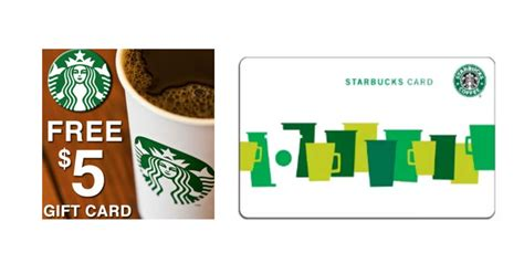 Starbucks Free 5 Gift Card - free 5 starbucks gift card for everyone