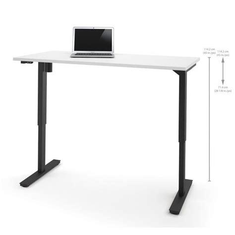 adjustable standing computer desk bestar 30 quot x 60 quot power adjustable standing white computer