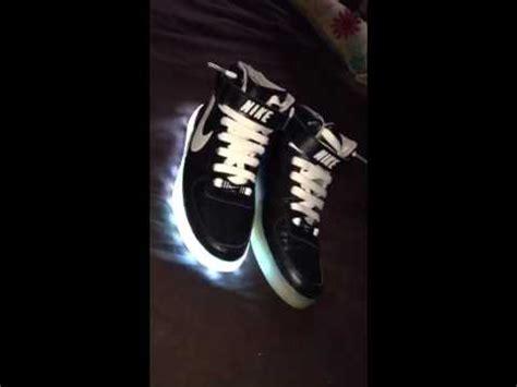 nike led light up shoes nike led high tops light up shoes youtube