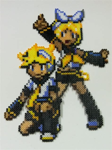 design len perler bead rinlen vocaloid by thewiredslain on deviantart