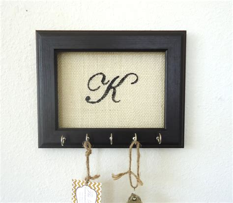 key holder wall key holder wall hook personalized gift frame by thehopestack