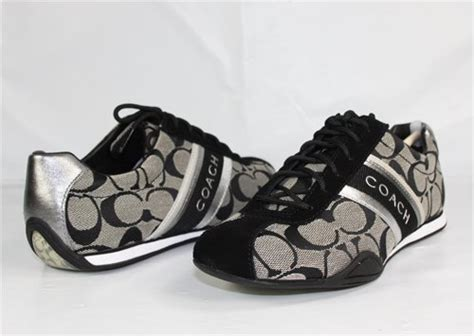 Coach Blacknwhite best buy 7 coach jayme signature suede black white black