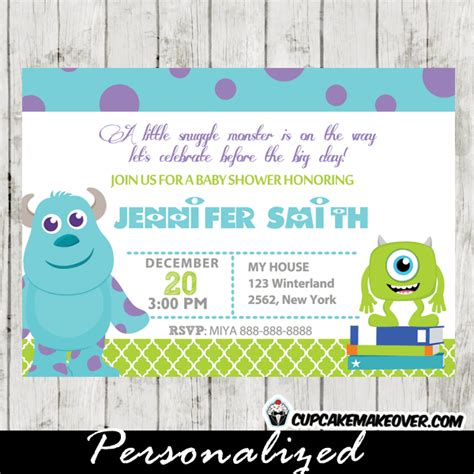 Baby Monsters Inc Baby Shower by Monsters Inc Baby Shower Invitation Card Personalized