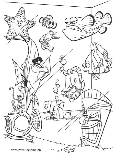bloat finding nemo coloring page finding nemo the tank gang coloring page