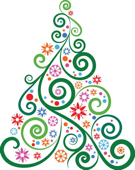 clipart natale abstract tree clipart happy holidays