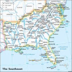 map of southern east coast of us the world s catalog of ideas