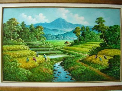 wallpaper alam bagus gambar lukisan pemandangan