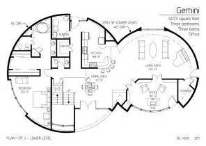 Dome Home Floor Plans Floor Plan Dl 4510 Monolithic Dome Institute