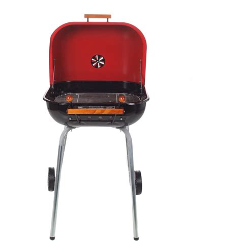 meco charcoal bbq grill with wheels red 4100