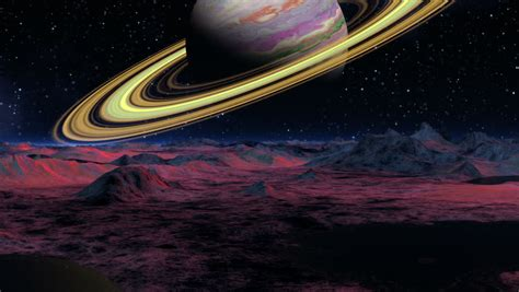 planet saturn surface saturn stock footage