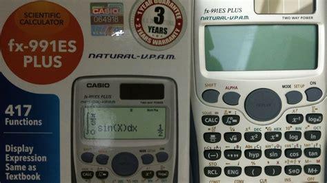 tutorial casio fx 991es how to test original casio fx 991 es plus calculator