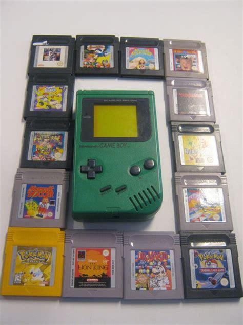 gameboy color green original nintendo boy classic green 14 original