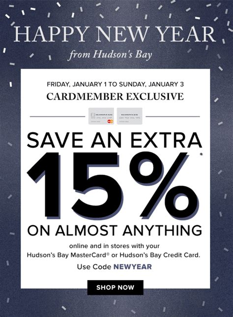 Hudson S Bay Canada Offers - hudson s bay canada weekend offers save an 15 on