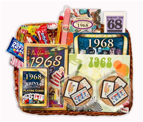 Wedding Anniversary Gift Baskets by 50th Wedding Anniversary Gift Basket With 1968 Sts