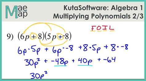 Multiplication Of Polynomials Worksheet