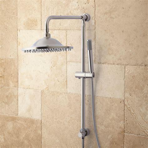 Shower Shower bostonian brass rainfall nozzle retrofit shower system with shower bathroom