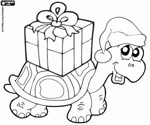 christmas turtle coloring page pets in christmas coloring pages printable games