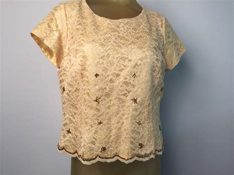 gold beaded top gold lace formal blouse yellow lace beaded top gold sequin