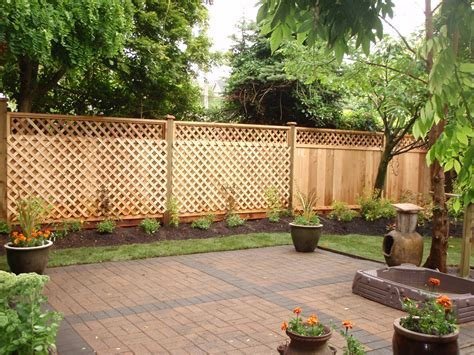 cheap backyard fence ideas fences gates arbors pergolas and lattice