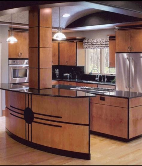 Log Home Kitchen Cabinets by Art Deco Design Kitchen My Style Pinterest