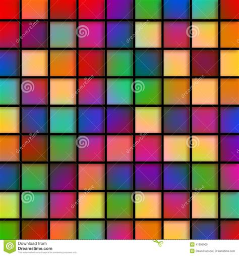 Colorful Bathroom Tile by Colourful Glass Tiles Stock Illustration Illustration Of