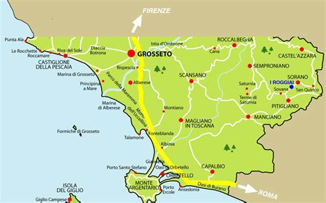 in maremma map of maremma with roggiai